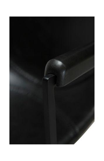 Armlehnenstuhl Pitch Kunstleder Vintage schwarz