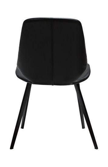 Stuhl Swing Kunstleder Vintage schwarz