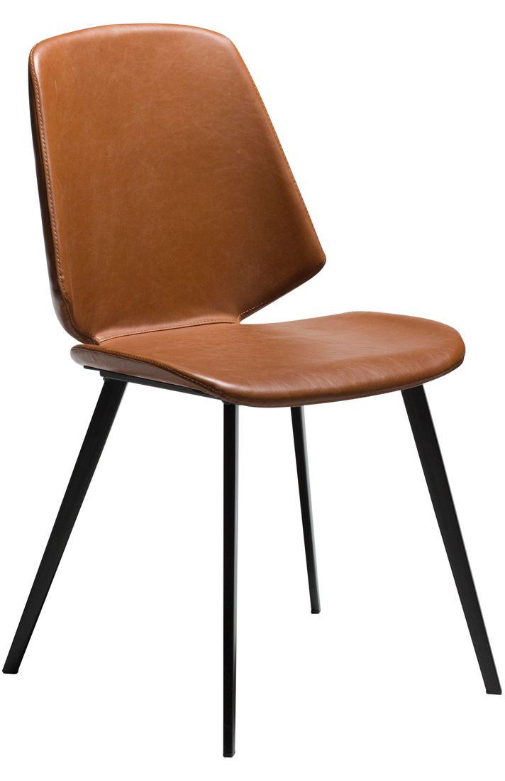 Stuhl Swing Kunstleder Vintage hellbraun
