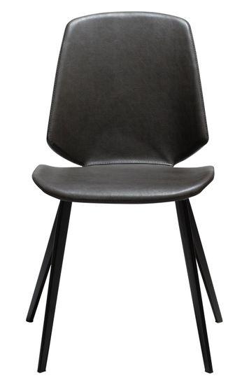 Stuhl Swing Kunstleder Vintage grau