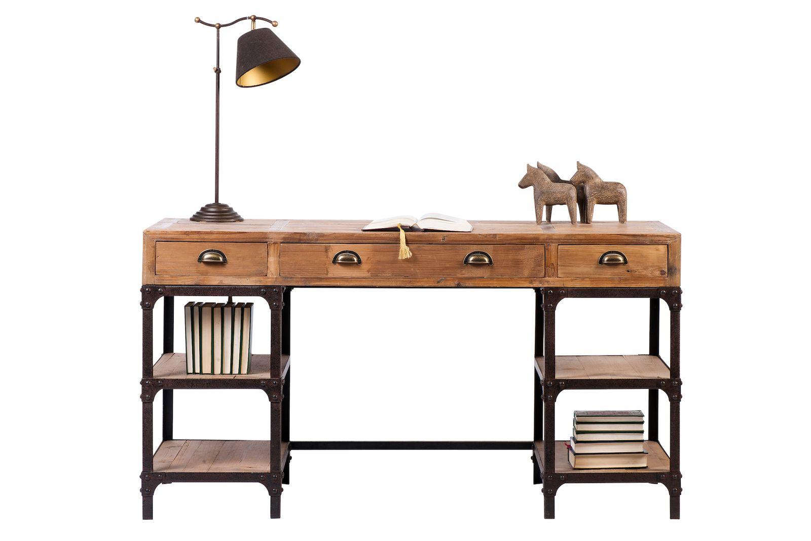 Schreibtisch vintage  Schreibtisch Vintage massiv | Manufaktur Ledersofas & besondere  Designermöbel von DeWall