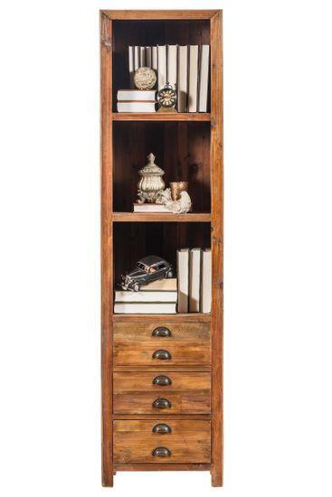 Bücherregal mit Schubkästen Vintage massiv