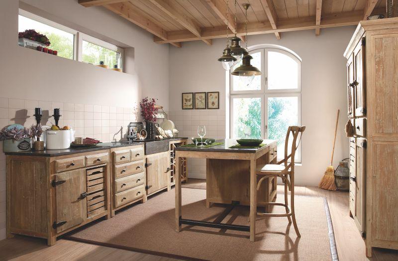 Rustikale Landhausküche Pinie massiv