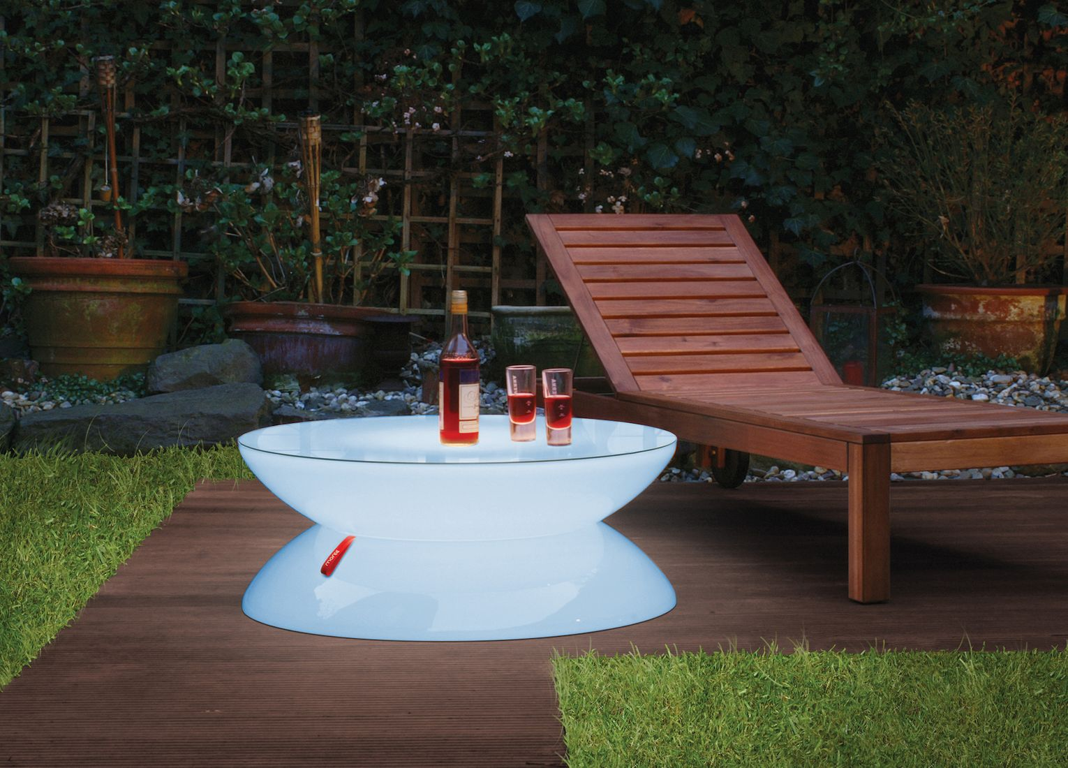 Couchtisch Lounge Outdoor LED Accu