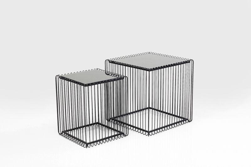 Beistelltisch Wire Square Schwarz (2/Set) 45x45cm