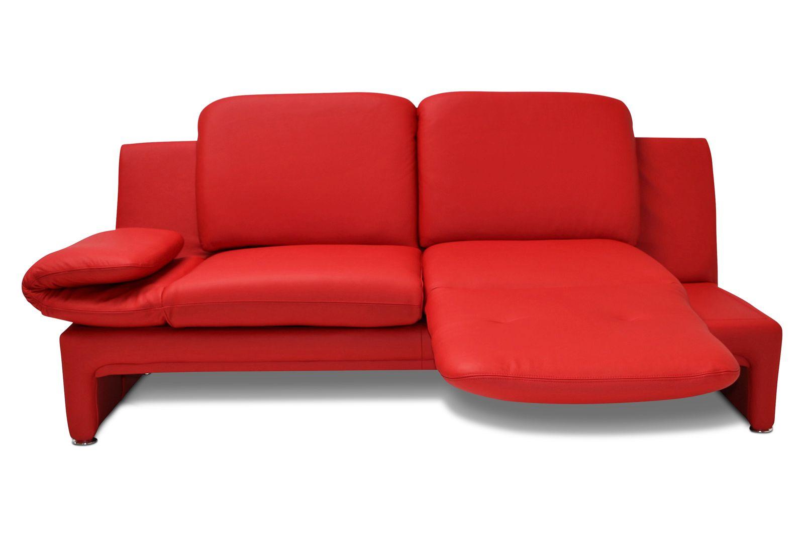 Ledersofa Vibe 2,5-Sitzer Relax-Drehsitz