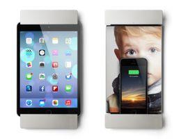 sDock mini silber - Wandhalterung Ladestation mit Lightning-Dock /Fotorahmen für iPad Mini 1,2,3
