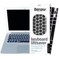 Benaw Lifesaver - Tastatur Skin für MacBook/Pro/Air/Wireless-Tastaturen (britisch), schwarz