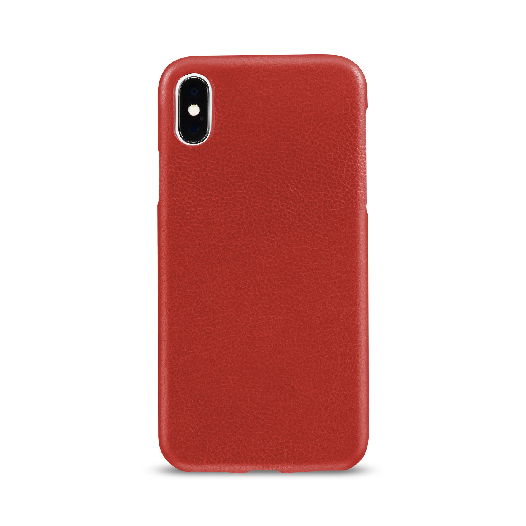 Artwizz Leather Clip edle Schutz-Hülle Echt-Leder iPhone X 10 Cover rot B-Ware – Bild 3