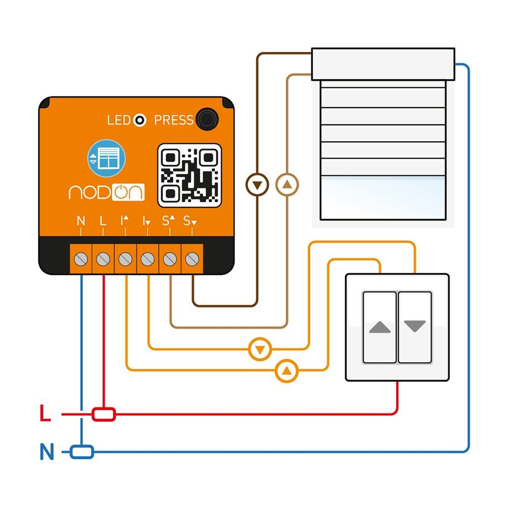 Nodon EnOcean Smart Home Unterputz Rollladen Modul 150 Watt batterielos drahtlos