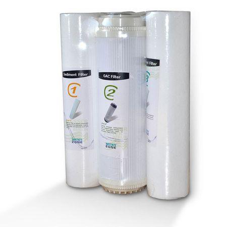 3er Filterset Umkehrosmose Folie PP5, GAC, PP1