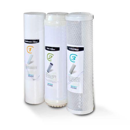3er Filterset Umkehrosmose Folie CTO, PP5, GAC