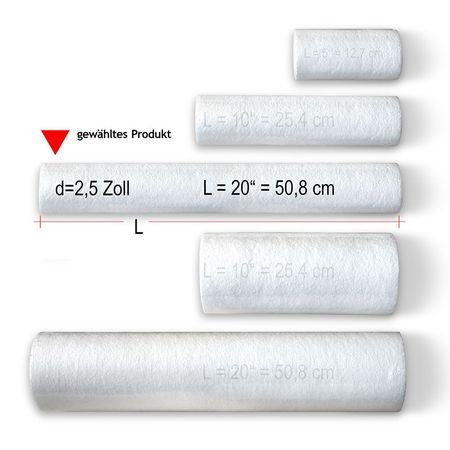 Vorfilterpatrone, Sediment- und Grobfilter 20 x 2,5 Zoll, 5 Mikron – Bild 3
