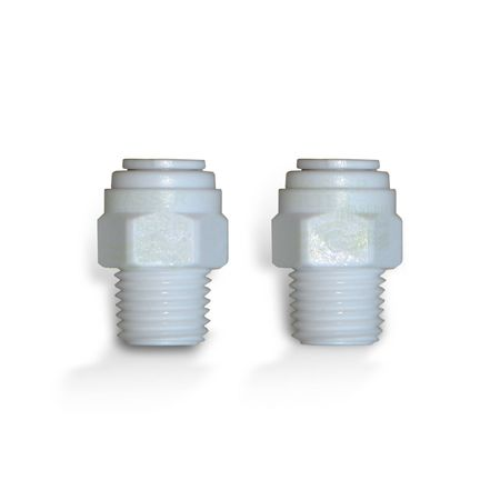 Adapter Pair For Refrigerator Filter, Quick Release Fasteners