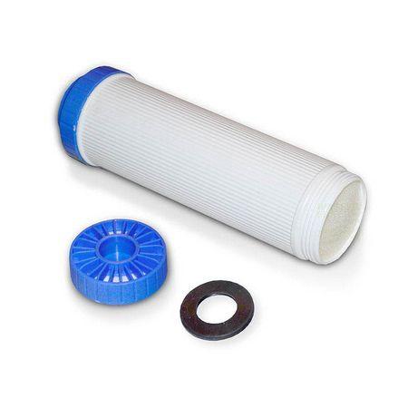 """Leerkartusche 10"""" (blauweiss) Wasserfilter, befüllbar mit verschiedensten Harzen – Bild 1"""