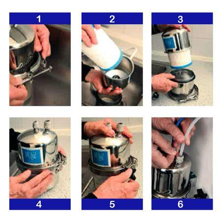 Multipure MP-400SB Trinkwasser Edelstahl-Untertisch-/Einbaufilter – Bild 4
