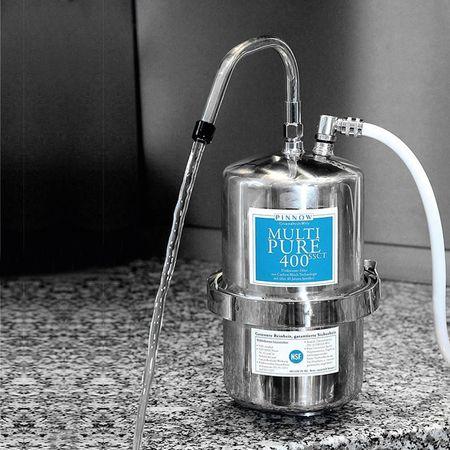 Multipure MP-400SSCT Trinkwasser Edelstahl-Auftisch-Filter