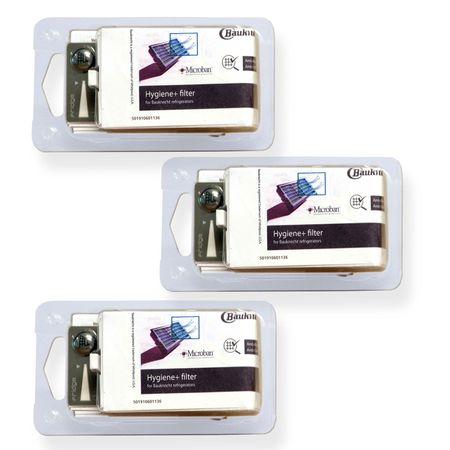 3x Bauknecht HYG001 / 481248048173 Hygiene-Filter Hygienefilter