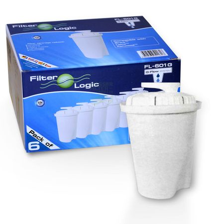 "6er Wasserfilter Set ""FilterLogic FL601G"" kompatibel mit Brita Classic – Bild 1"