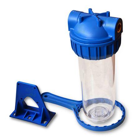 25,4cm/ 10 Zoll Wasserfiltergehäuse, 3-teilig, 3/4Zoll IG – Bild 1