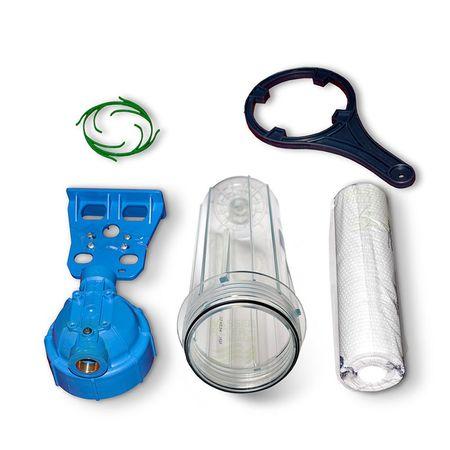 25,4cm/10Zoll Wasserfilter Gehäuse EKO 1/2Z + Sedimentpatrone 5 mikron – Bild 3