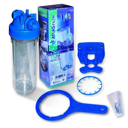 """10 Zoll Wasserfiltergehäuse mit 1/2"""" Kunststoffgewinde, Italy – Bild 1"""