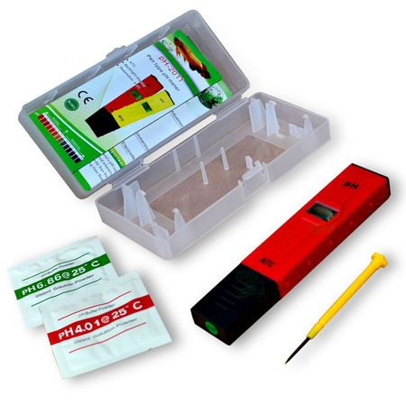 PH TESTER ATC PH-2011, 0-14 PH, ph Tester (rot in Box) – Bild 2