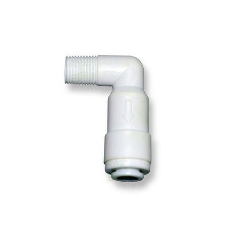"Quickverschl., Winkel 6,4mm (1/8""AG x1/4""Schlauch) m. Rückschlagventil – Bild 1"