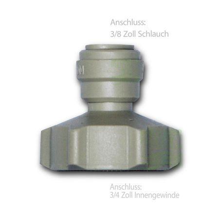 Adapter Anschluss 3/4 Zoll IG für Kühlschrank Schlauch  3/8 Zoll – Bild 2