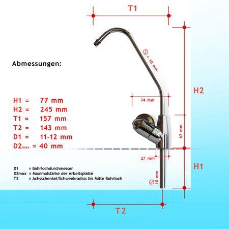 Wasserhahn Venezia mit Keramikventil (6033), Edelstahl-Optik – Bild 2