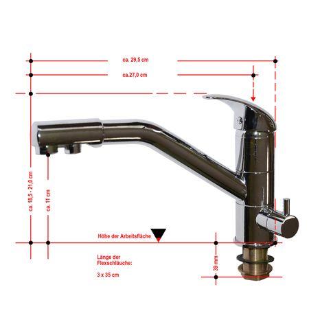 3-Wege-Wasserhahn, Einzelstück zum Sonderpreis – Bild 2