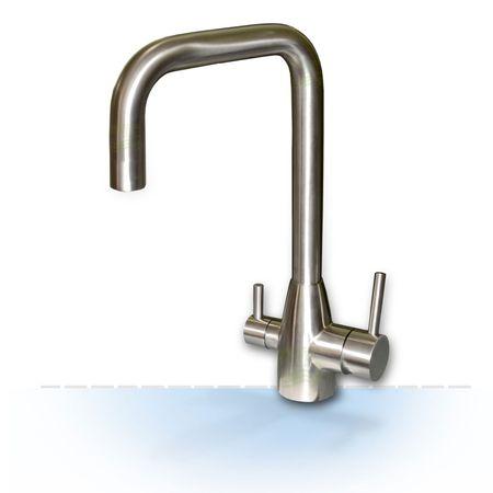 3-Wege-Wasserhahn Edelstahl Wasserhahn Einzelstück zum Sonderpreis – Bild 1