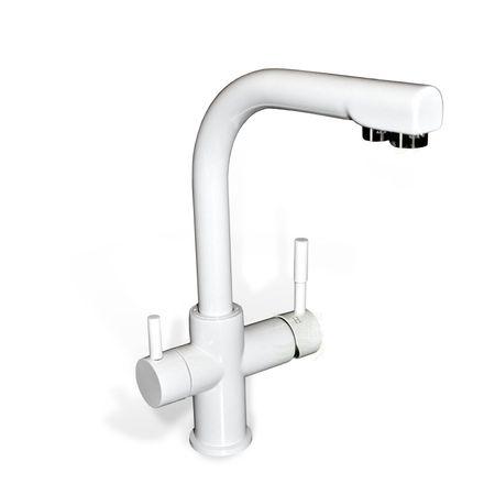 Design-Drei-Wege-Wasserhahn Verona, white – Bild 1