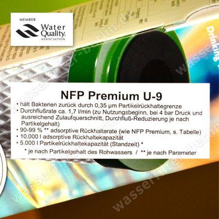 2x Carbonit Aktivkohle NFP Premium U-9 (Monoblock 0,35 Mikron) – Bild 2