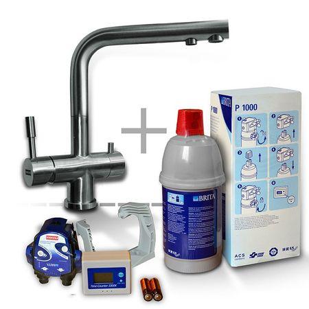 FRANKE Edelstahlwasserhahn mit BRITA P 1000 System – Bild 1