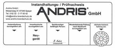 """Feuerlöscher 5kg CO² Kohlendioxid EDV geeignet EN 3 inkl. ANDRIS® Prüfnachweis ISO-Symbolschild  & """"Für EDV"""" Textschild"""