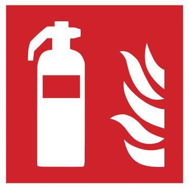 Brandschutzzeichen Symbolschild Feuerlöscher ISO Folie selbstklebend 100x100mm