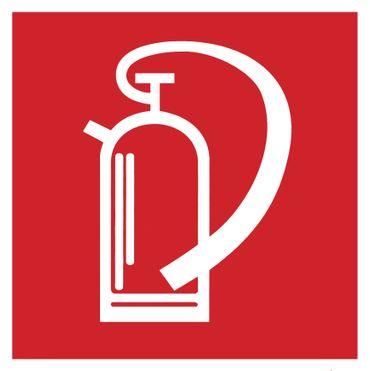 Feuerlöscher Symbolschild Brandschutzzeichen DIN Folie selbstklebend 200x200mm