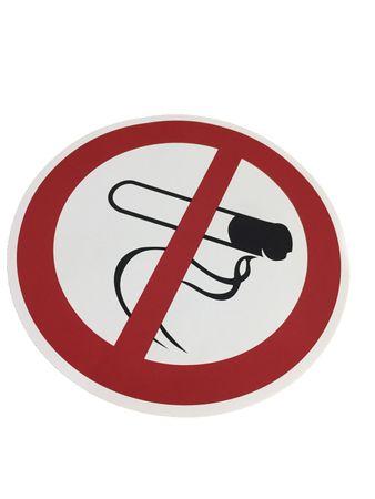 """Verbotszeichen Symbolschild """"Rauchen verboten"""" DIN Folie selbstklebend ∅ 200mm orig. ANDRIS®-Piktogramm"""