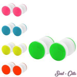 1 Paar Fakeplugs in Neonfarben – Bild 1