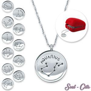 Sternzeichen-Anhänger Halskette Edelstahl – Bild 1