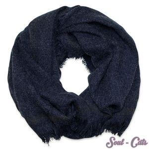 Schal gestrickt dunkelblau