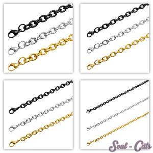 Gliederkette Edelstahl Halskette Set – Bild 1
