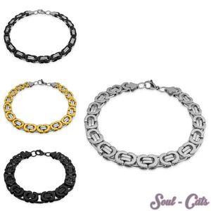 Armband flach Königskette Edelstahl – Bild 1