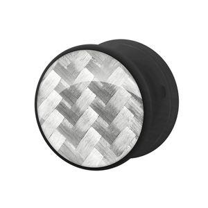 1 Tunnel Plug CARBONE Kunstoff weiß schwarz – Bild 2