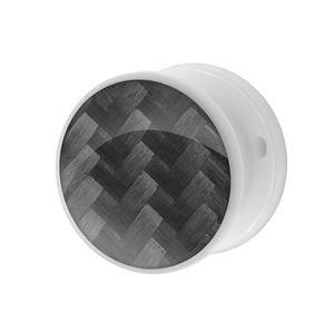 1 Tunnel Plug CARBONE Kunstoff weiß schwarz – Bild 3