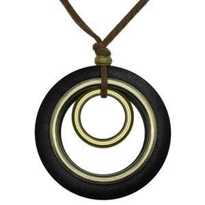 Halskette mit Holz- und Metallringen – Bild 3