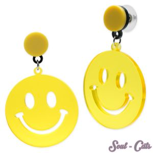 1 Paar Smiley Ohrstecker