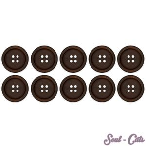 10er Knopf Set aus Holz