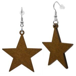 1 Paar Stern Ohrringe aus Holz – Bild 2